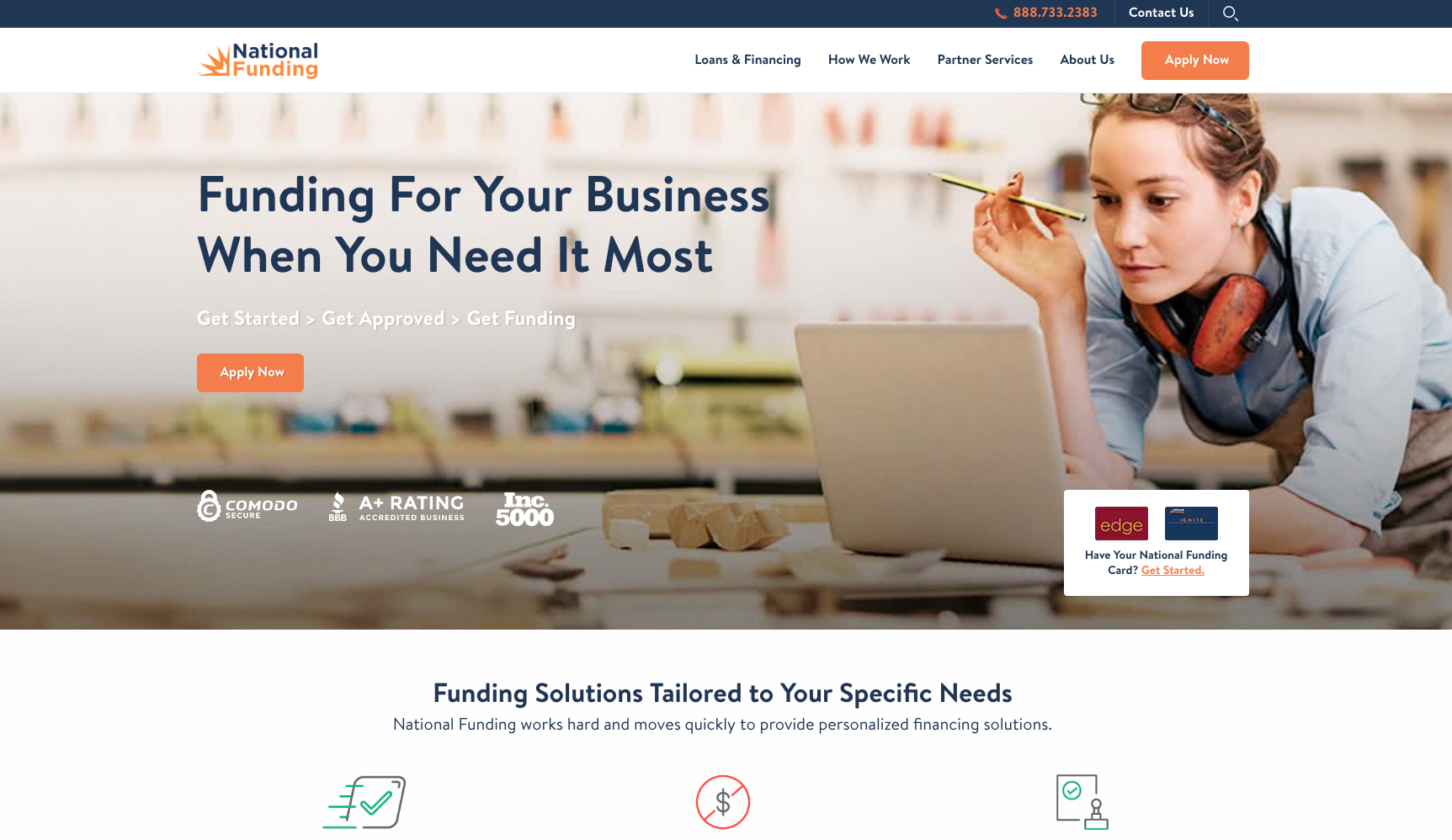 NATIONALFUNDING.COM ScreenShot